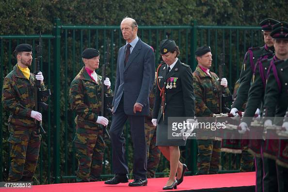 Prince Edward Duke of Kent arrives to attend the official Belgian federal government ceremony to commemorate the bicentenary of the Battle of...