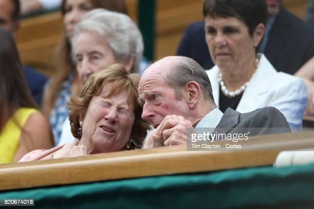 Prince Edward Duke of Kent at the Ladies Singles Final match between Garbine Muguruza of Spain against Venus Williams of The United States in the...
