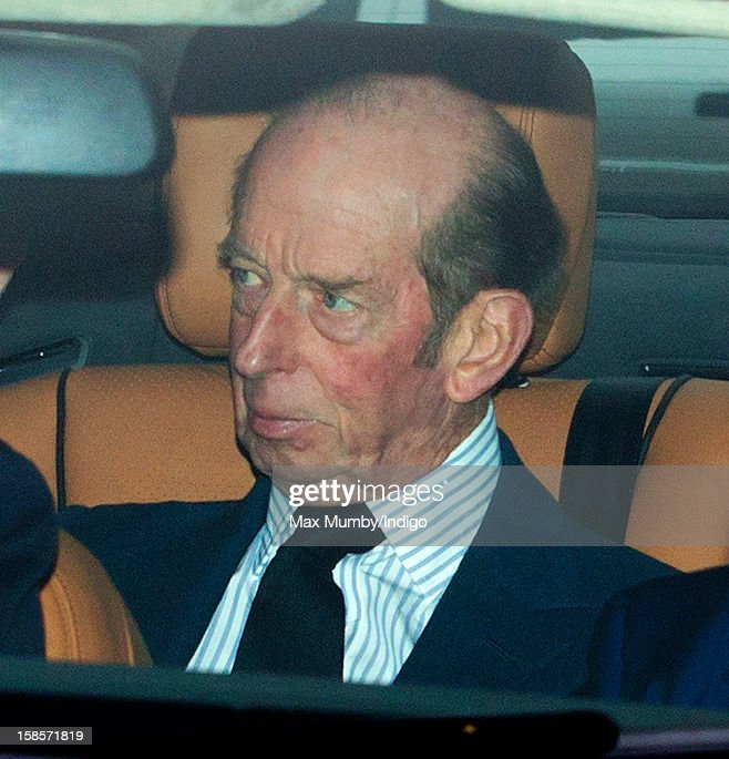 Prince Edward, Duke of Kent attends a Christmas lunch for members of the Royal Family hosted by Queen Elizabeth II at Buckingham Palace on December 19, 2012 in London, England.