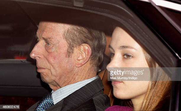 Prince Edward Duke of Kent attends a Christmas lunch for members of the Royal Family hosted by Queen Elizabeth II at Buckingham Palace on December 17...