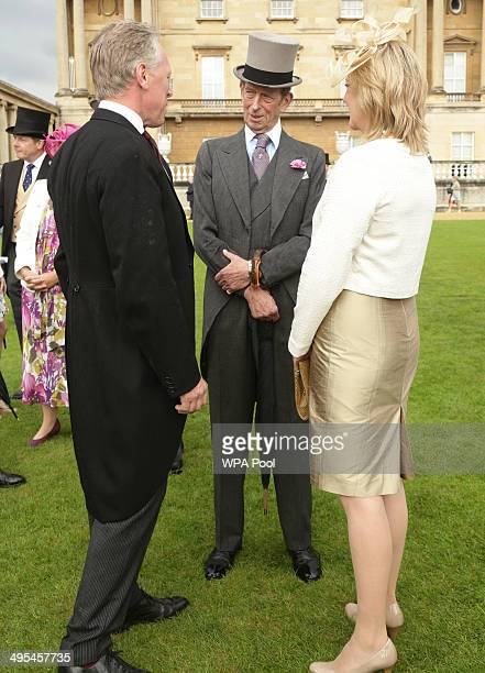 Prince Edward Duke of Kent attends a garden party held at Buckingham Palace on June 3 2013 in London England