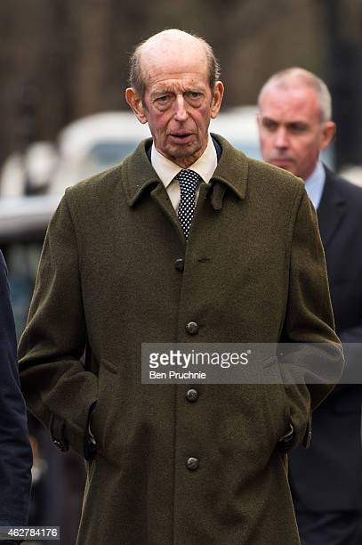 Prince Edward Duke of Kent attends a memorial for Sir Jocelyn Stevens at St Paul's Church on February 5 2015 in London England