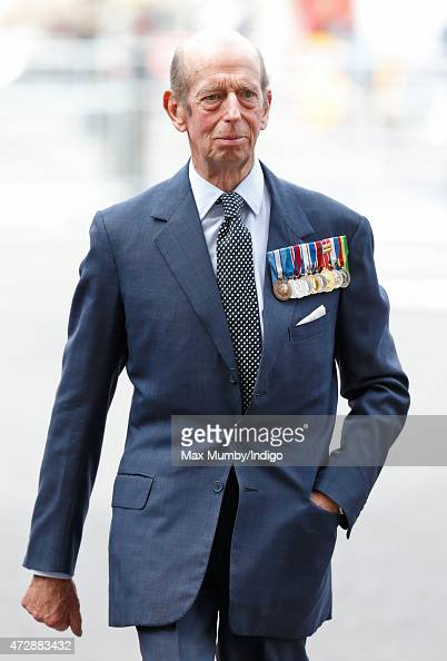 Prince Edward Duke of Kent attends a Service of Thanksgiving to mark the 70th Anniversary of VE Day at Westminster Abbey on May 10 2015 in London...
