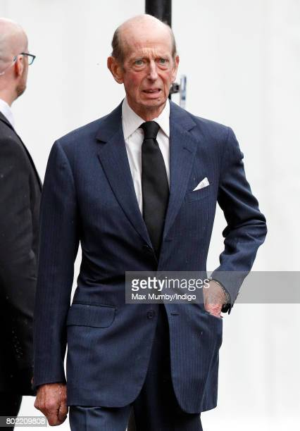 Prince Edward Duke of Kent attends the funeral of Patricia Knatchbull Countess Mountbatten of Burma at St Paul's Church Knightsbridge on June 27 2017...