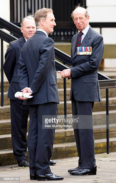 Prince Edward Duke of Kent attends the Scots Guards Regimental Remembrance Sunday Service at the Guards Chapel Wellington Barracks on April 14 2013...