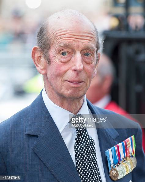 Prince Edward Duke of Kent attends the VE Day 70th Anniversary sevice at Westminster Abbey on May 10 2015 in London England