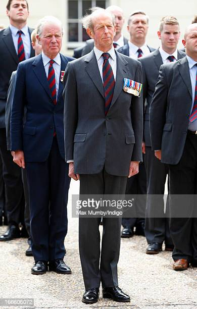 Prince Edward Duke of Kent takes part in the Scots Guards Regimental Remembrance Sunday Parade after attending a service at the Guards Chapel...