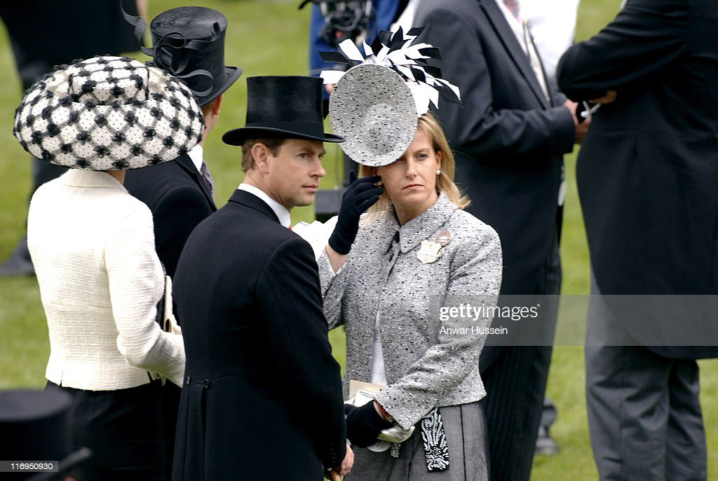 <a gi-track='captionPersonalityLinkClicked' href=/galleries/search?phrase=Prince+Edward+-+Earl+of+Wessex&family=editorial&specificpeople=160185 ng-click='$event.stopPropagation()'>Prince Edward</a>, Earl of Wessex and Sophie, Countess of Wessex attend the first day of Royal Ascot 2005 at York Racecourse in York, England, on June 14, 2005. This year's Royal Meeting is relocated to York Racecourse due to a major redevelopment program at Ascot, due to re-open in 2006.