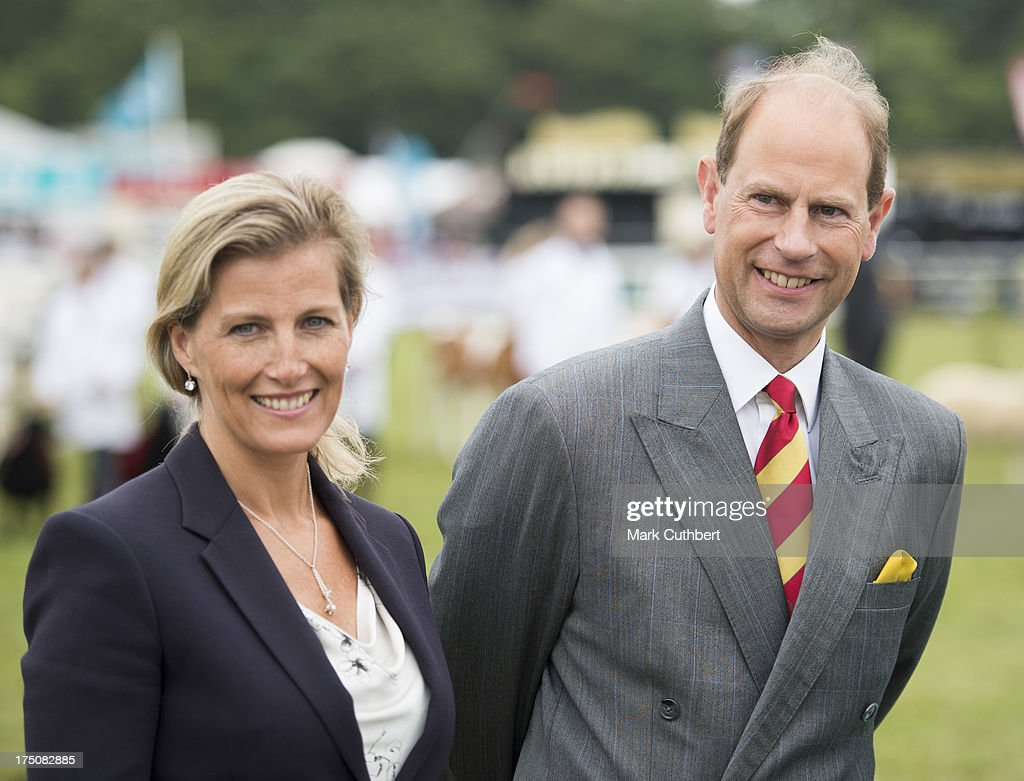 <a gi-track='captionPersonalityLinkClicked' href=/galleries/search?phrase=Prince+Edward+-+Earl+of+Wessex&family=editorial&specificpeople=160185 ng-click='$event.stopPropagation()'>Prince Edward</a>, Earl of Wessex and Sophie, Countess of Wessex visit the New Forest and Hampshire county show at The Showground, New Park on July 31, 2013 in Brockenhurst, England.