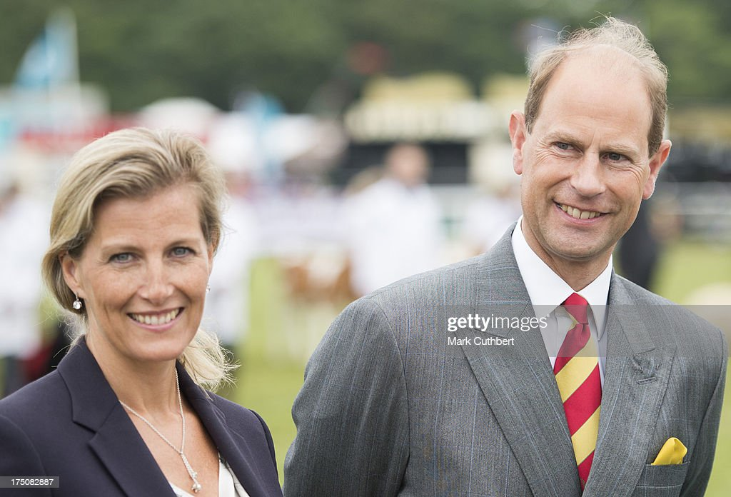 Prince Edward, Earl of Wessex and Sophie, Countess of Wessex visit the New Forest and Hampshire county show at The Showground, New Park on July 31, 2013 in Brockenhurst, England.