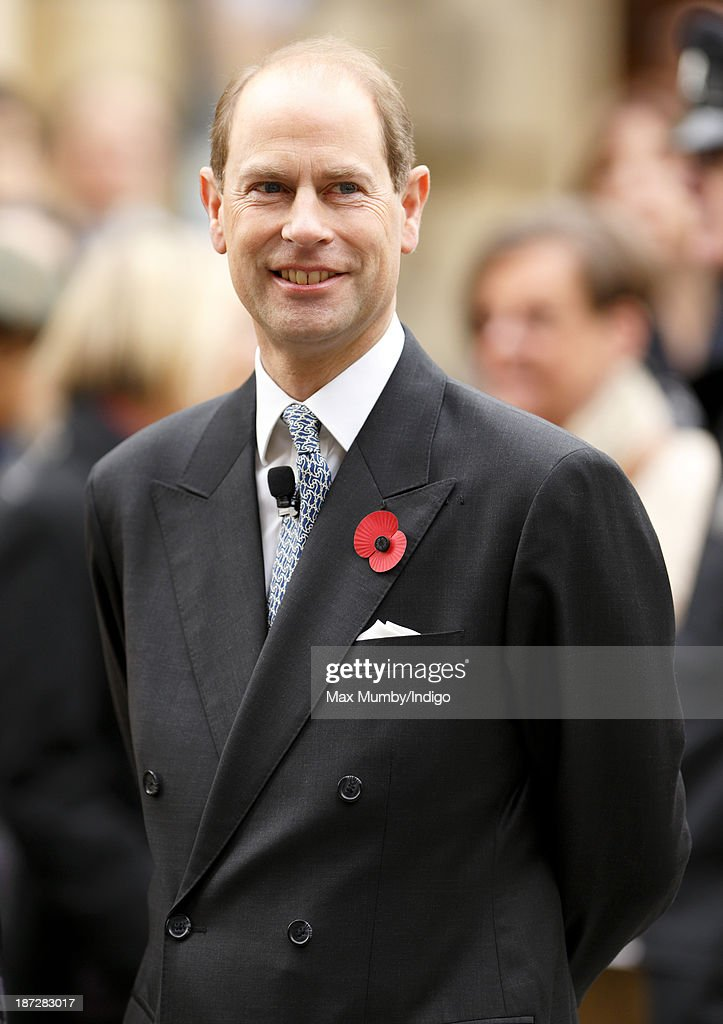 <a gi-track='captionPersonalityLinkClicked' href=/galleries/search?phrase=Prince+Edward+-+Earl+of+Wessex&family=editorial&specificpeople=160185 ng-click='$event.stopPropagation()'>Prince Edward</a>, Earl of Wessex attends a service at Bath Abbey during which he was installed as Chancellor of the University of Bath on November 7, 2013 in Bath, England.