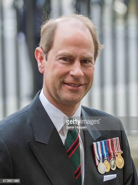 Prince Edward Earl of Wessex attends a Service of Thanksgiving to mark the 70th anniversary of Victory in Europe at Westminster Abbey on May 10 2015...