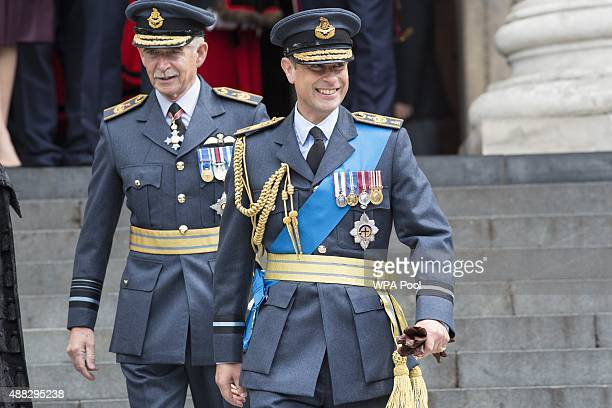 Prince Edward Earl of Wessex attends a service to mark the 75th anniversary of the Battle of Britain at St Paul's Cathedral on September 15 2015 in...