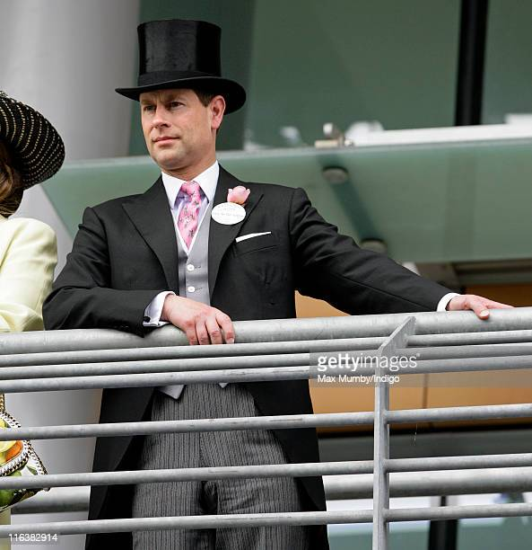 Prince Edward Earl of Wessex attends day 2 of Royal Ascot at Ascot Racecourse on June 15 2011 in Ascot United Kingdom