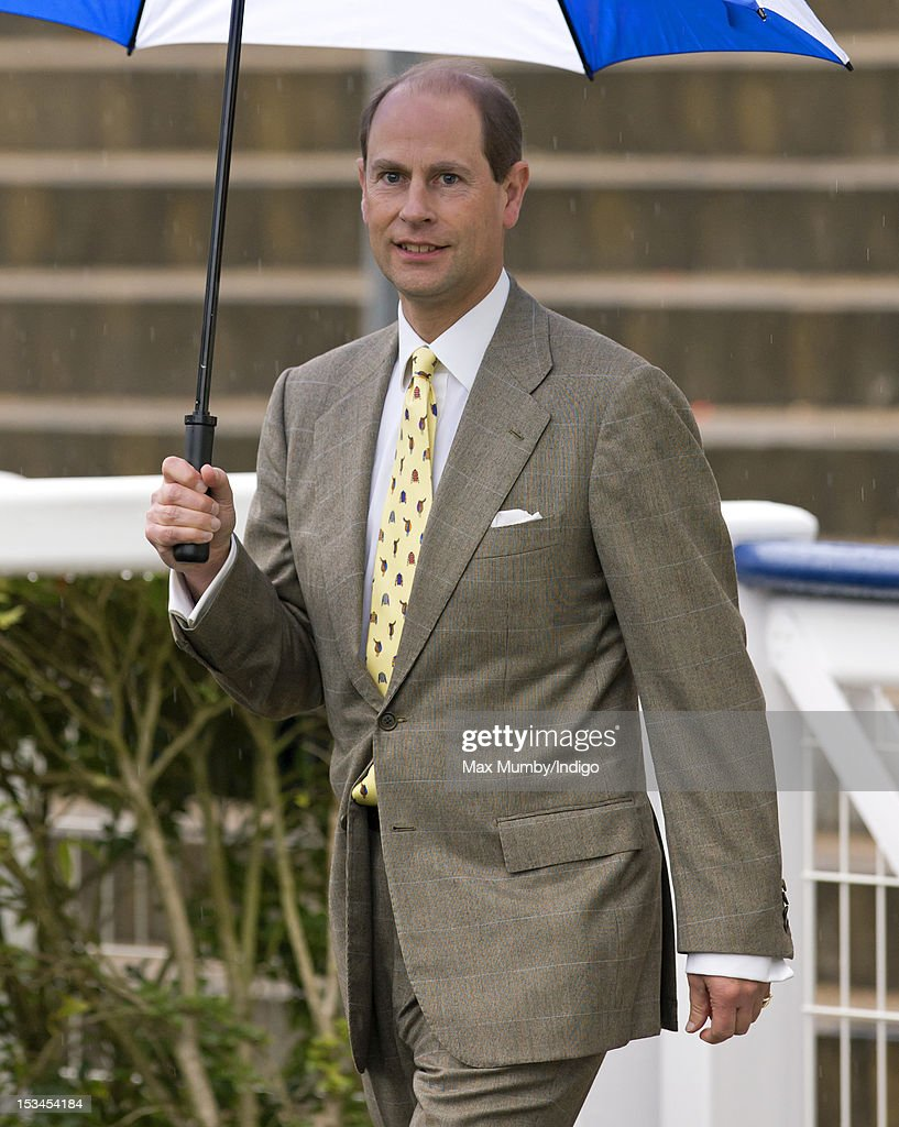 Prince Edward, Earl of Wessex attends day one of the Autumn Meeting at Ascot Racecourse on October 5, 2012 in Ascot, England.