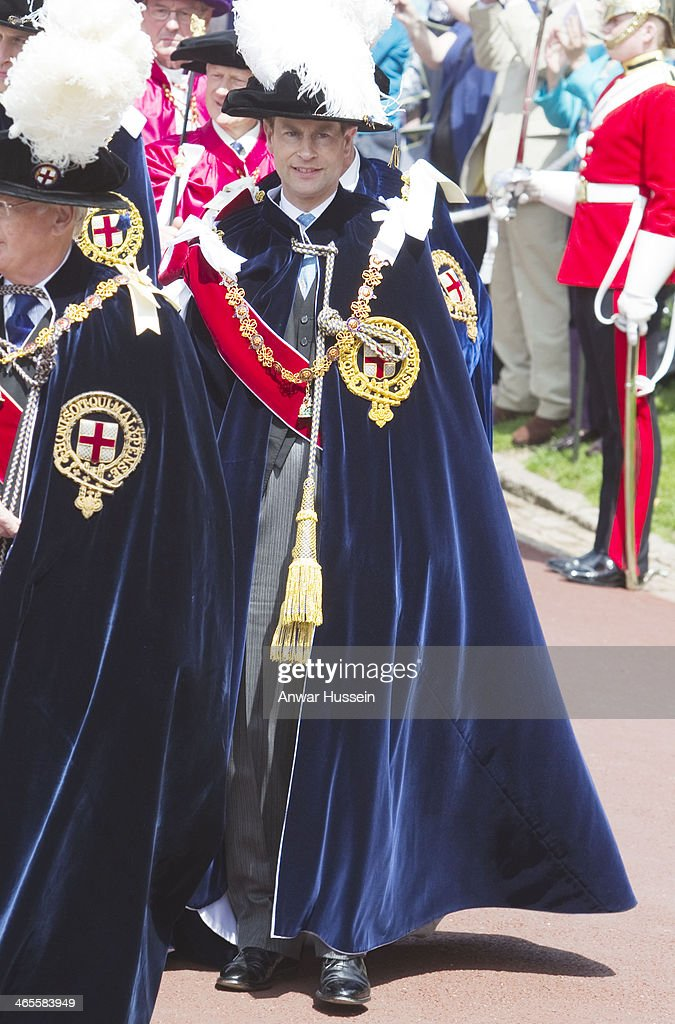 Prince Edward, Earl of Wessex attends The Order of the Garter Service at St. George's Chapel on June 15, 2012 in Windsor, England.
