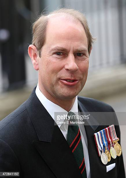 Prince Edward Earl of Wessex attends the VE Day 70th Anniversary service at Westminster Abbey on May 10 2015 in London England