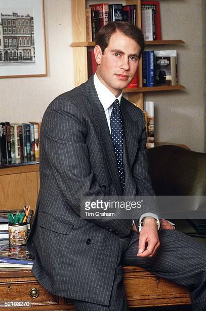 Prince Edward Earl Of Wessex In His Office