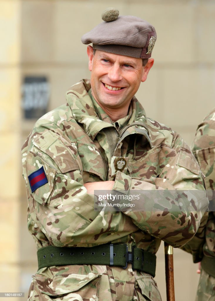 <a gi-track='captionPersonalityLinkClicked' href=/galleries/search?phrase=Prince+Edward+-+Earl+of+Wessex&family=editorial&specificpeople=160185 ng-click='$event.stopPropagation()'>Prince Edward</a>, Earl of Wessex, in his role as Royal Colonel, watches Army Reservists from the London Regiment undergo frontline battle specific training at Standford Training Area on September 9, 2013 in Thetford, England.