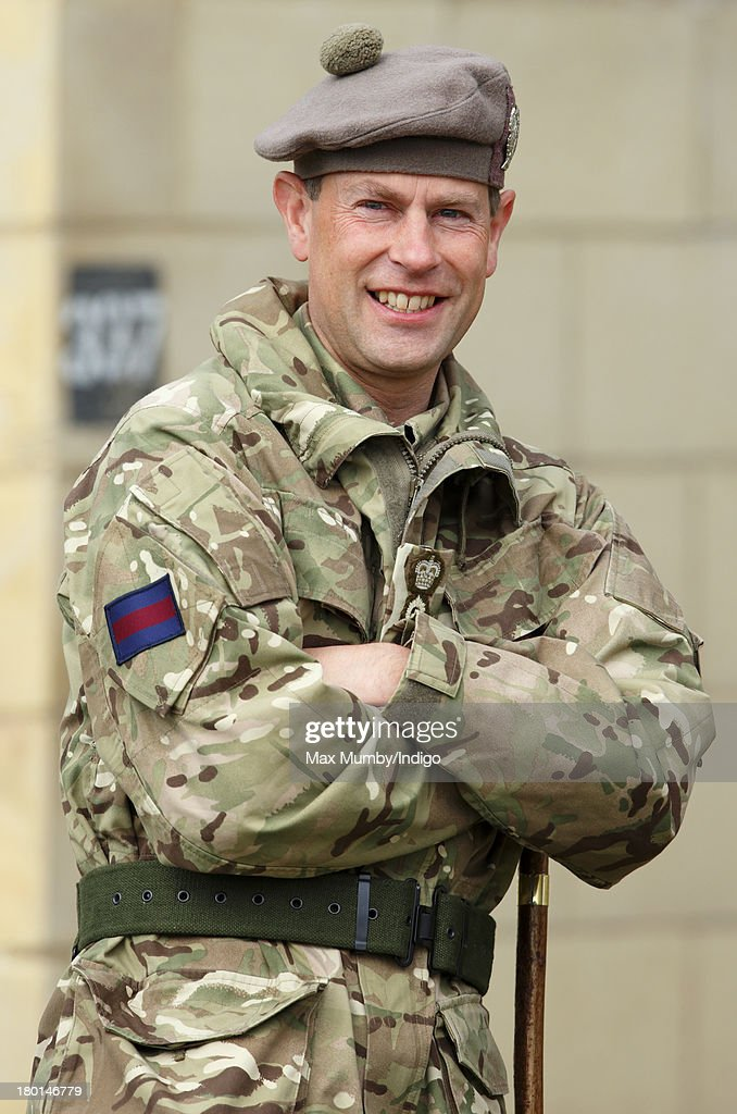 Prince Edward Visits The Army Reservists From The London Regiment