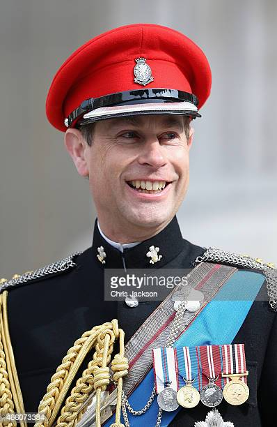 Prince Edward Earl of Wessex leaves St Paul's Cathedral after a Service of Commemoration for troops who were stationed in Afghanistan on March 13...