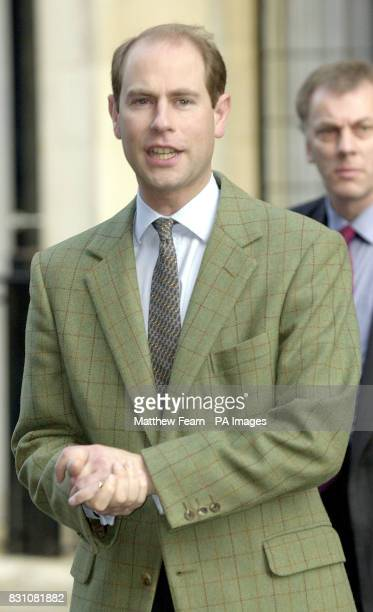 Prince Edward Earl of Wessex outside the King Edward VII Hospital in London after visiting his wife Sophie Edward has remained at Buckingham Palace...