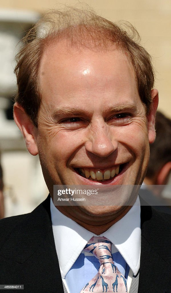Prince Edward, Earl of Wessex smiles as he attends a Garden Party at Buckingham Palace on July 17, 2007 in London, England.