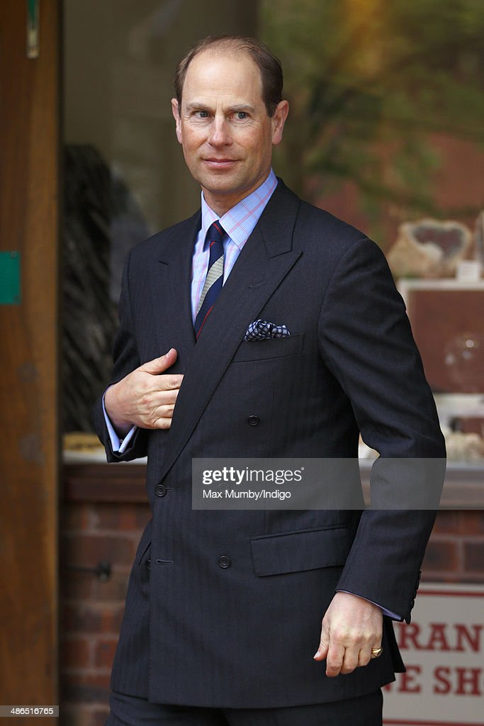 Prince Edward, Earl of Wessex visits Clearwell Caves during a day of engagements in Gloucestershire on April 24, 2014 in Coleford, England.
