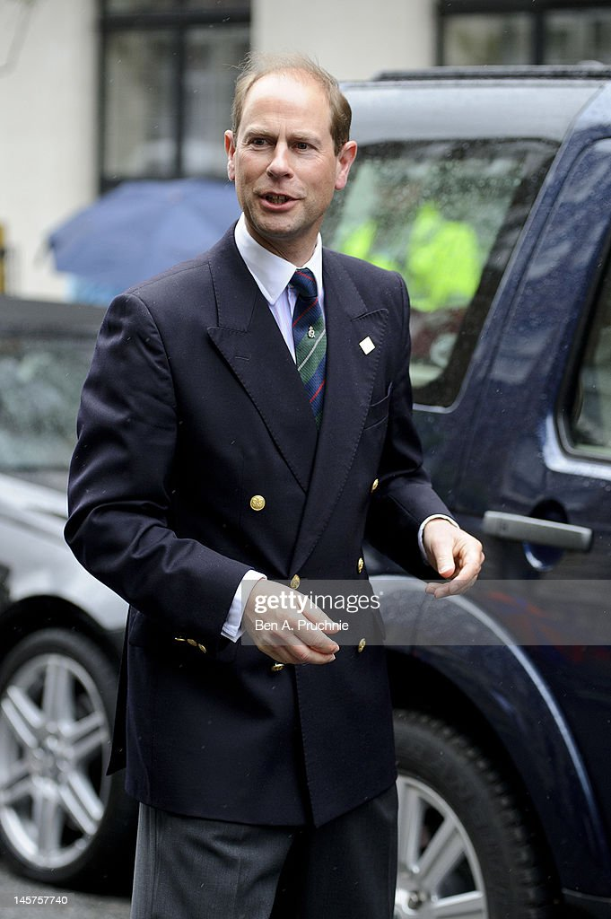 Prince Edward Earl of Wessex visits King Edward VII hospital in Beaumont Street where Prince Philip, Duke of Edinburgh remains in due to an infection on June 5, 2012 in London, England. The Duke of Edinburgh has been under observation for a few days, subsequently missing the rest of the Diamond Jubilee celebrations.