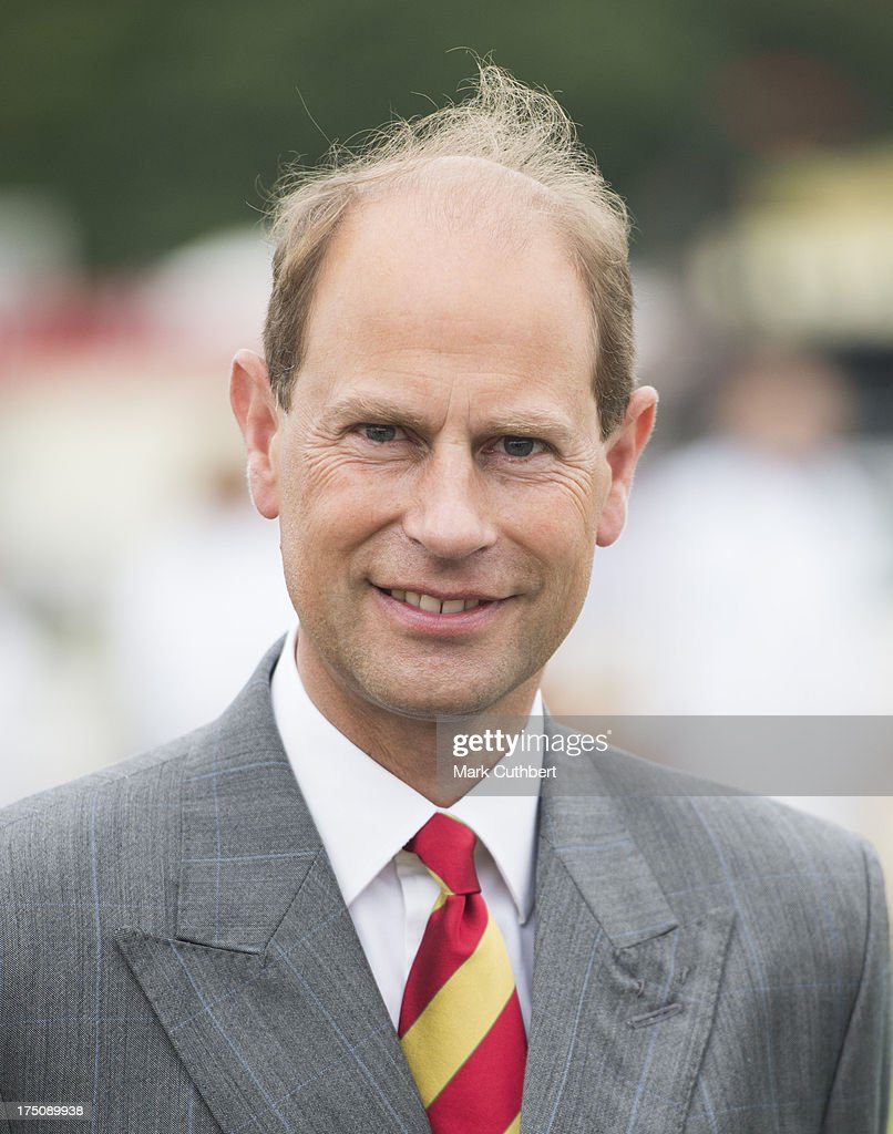 Prince Edward, Earl of Wessex visits the New Forest and Hampshire county show at The Showground, New Park on July 31, 2013 in Brockenhurst, England.