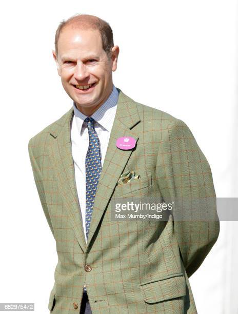 Prince Edward Earl of Wessex watches daughter Lady Louise Windsor take part in The Champagne LaurentPerrier Meet of the British Driving Society on...