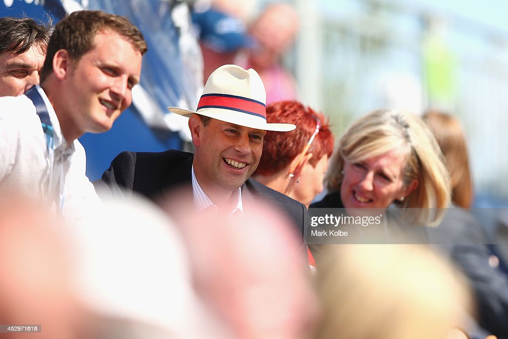 Prince Edward, Earl of Wessex watches on in the crowd duirng the men's fours quarter-finals at Kelvingrove Lawn Bowls Centre during day eight of the Glasgow 2014 Commonwealth Games on July 31, 2014 in Glasgow, United Kingdom.