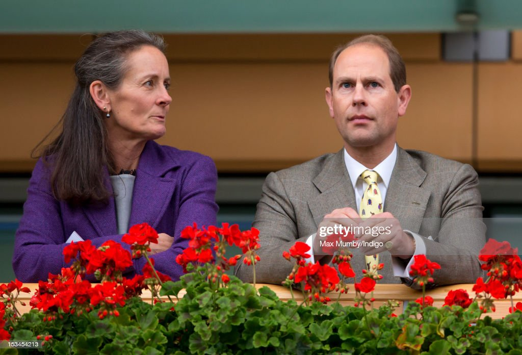 Prince Edward, Earl of Wessex watches the horses in the parade ring from the balcony of the Royal box as he attends day one of the Autumn Meeting at Ascot Racecourse on October 5, 2012 in Ascot, England.