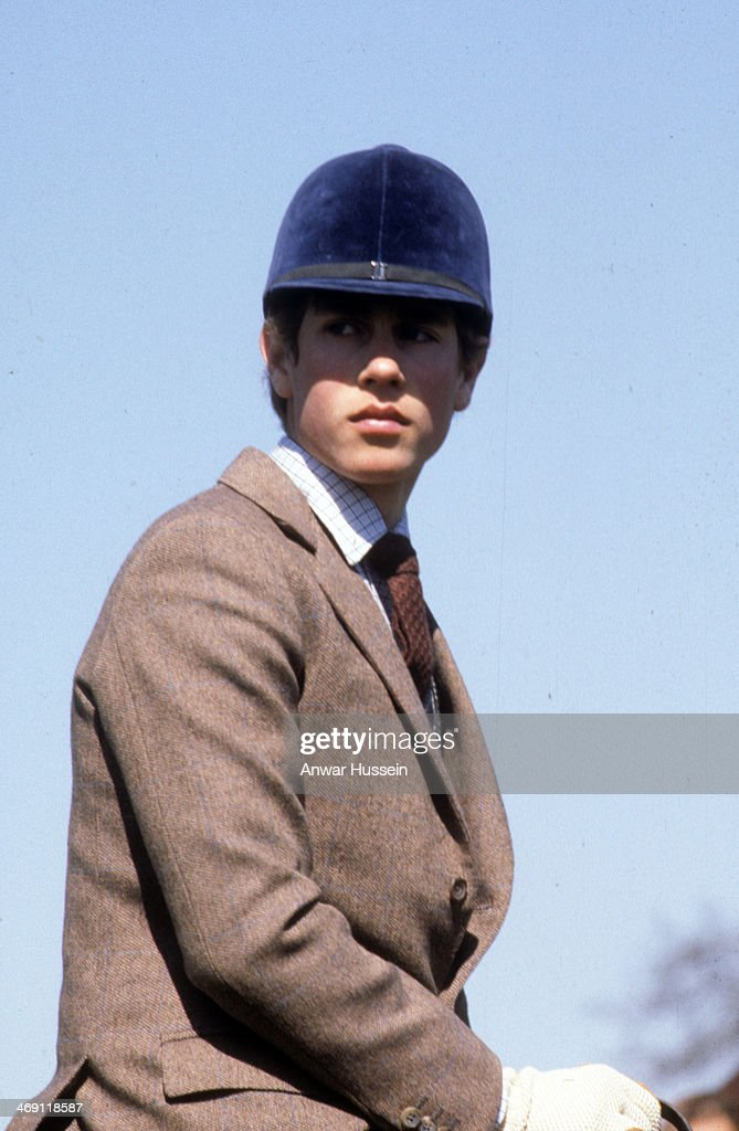 Prince Edward rides his horse during Badminton Horse Trials on April 1, 1980 in Badminton, England.