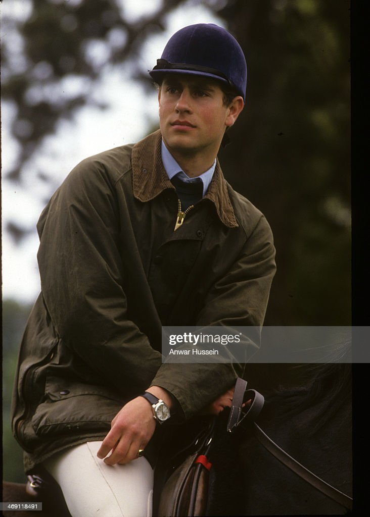Prince Edward rides his horse during Windsor Horse Show on May 16, 1987 in Windsor, England.