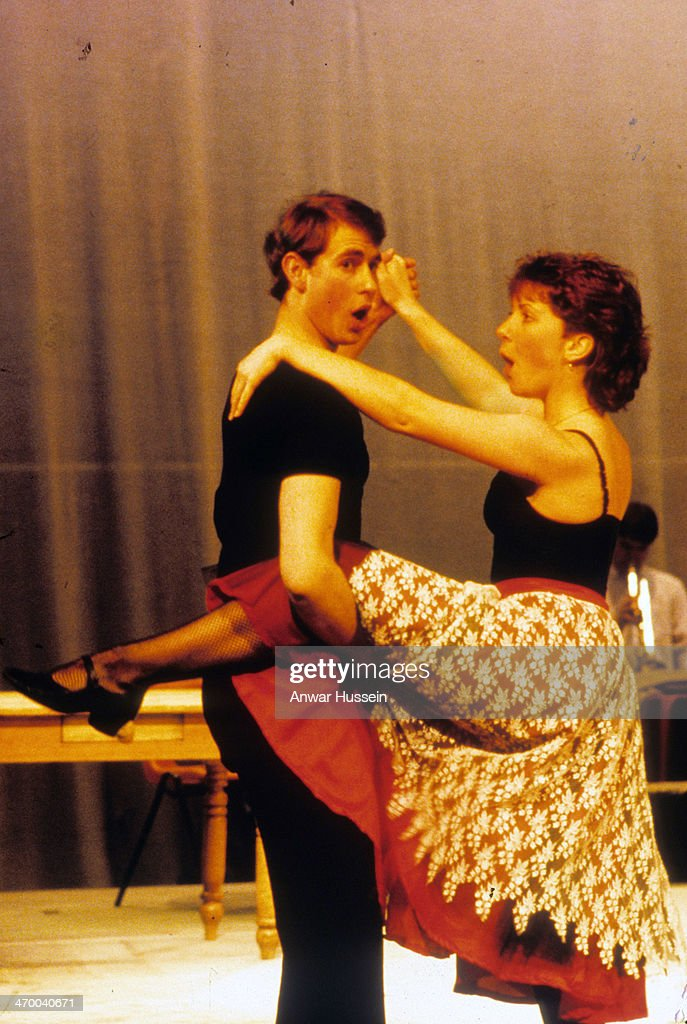 Prince Edward takes part in a Cambridge University undergraduate Revue on November 01, 1984 in Cambridge, England.