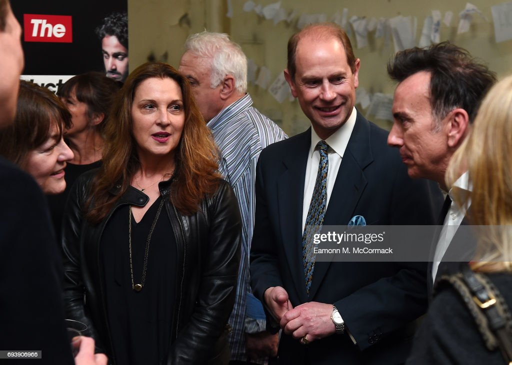 Prince Edward, The Earl of Wessex and Barbara Broccoli attend a Performance at National Youth Theatre on June 8, 2017 in London, England.
