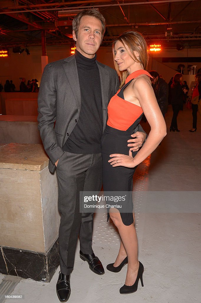 Prince Emanuele Filiberto of Savoy and Princess Clotilde of Savoy attend the Make Up For Ever Party at Palais De Tokyo on January 31, 2013 in Paris, France.