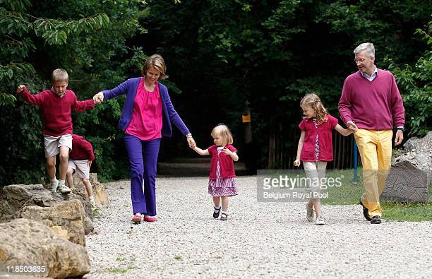 Prince Emmanuel of Belgium Prince Gabriel of Belgium Princess Mathilde of Belgium Princess Eleonore of Belgium Princess Elisabeth Belgium and Prince...