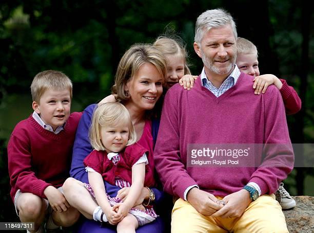 Prince Emmanuel of Belgium Princess Eleonore of Belgium Princess Mathilde of Belgium Princess Elisabeth of Belgium Prince Philippe of Belgium and...