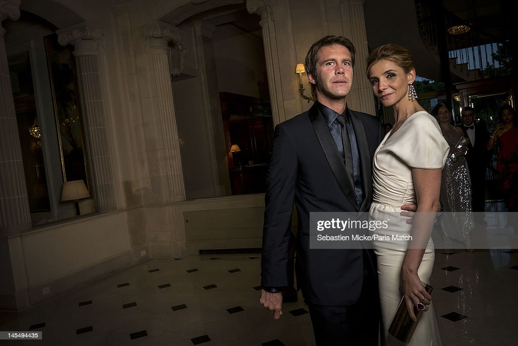 Prince Emmanuel Philibert of Savoy and wife Clotilde Courau, photographed at the amfAR Cinema Against AIDS gala, for Paris Match on May 24, 2012, in Cap d'Antibes, France.