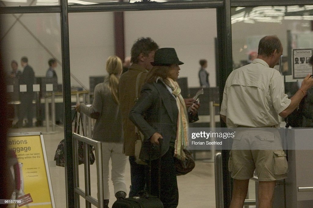 Prince Ernst August of Hanover (3rd R) arrives from Phuket Thailand at Tegel Airport on January 4, 2010 in Berlin, Germany.