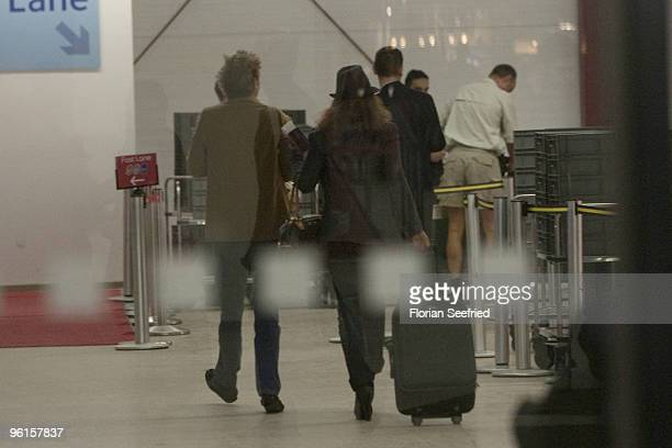 Prince Ernst August of Hanover arrives from Phuket Thailand at Tegel Airport on January 4 2010 in Berlin Germany