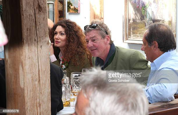 Prince Ernst August von Hannover and Simona attend the Oktoberfest Opening in Kaeferzelt at Theresienwiese on September 20 2014 in Munich Germany