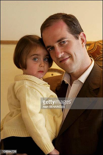 Prince Eudes of Orleans with daughter HRH Princess Therese in a suite at Hotel Martinez Cannes in Cannes France on March 19 2004