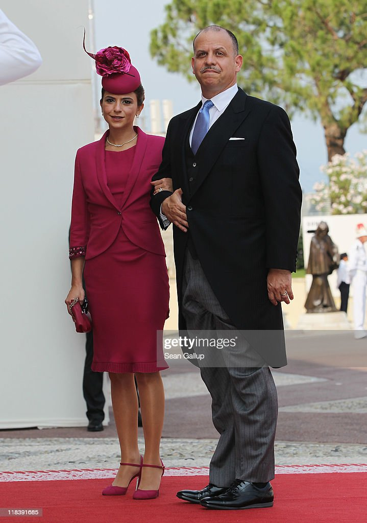 Prince Faisal bin al Hussein of Jordan and guest attend the religious ceremony of the Royal Wedding of <a gi-track='captionPersonalityLinkClicked' href=/galleries/search?phrase=Prince+Albert+II+of+Monaco&family=editorial&specificpeople=201707 ng-click='$event.stopPropagation()'>Prince Albert II of Monaco</a> to Princess <a gi-track='captionPersonalityLinkClicked' href=/galleries/search?phrase=Charlene+-+Princess+of+Monaco&family=editorial&specificpeople=726115 ng-click='$event.stopPropagation()'>Charlene</a> of Monaco in the main courtyard at the Prince's Palace on July 2, 2011 in Monaco. The Roman-Catholic ceremony follows the civil wedding which was held in the Throne Room of the Prince's Palace of Monaco on July 1. With her marriage to the head of state of the Principality of Monaco, <a gi-track='captionPersonalityLinkClicked' href=/galleries/search?phrase=Charlene+-+Princess+of+Monaco&family=editorial&specificpeople=726115 ng-click='$event.stopPropagation()'>Charlene</a> Wittstock has become Princess consort of Monaco and gains the title, Princess <a gi-track='captionPersonalityLinkClicked' href=/galleries/search?phrase=Charlene+-+Princess+of+Monaco&family=editorial&specificpeople=726115 ng-click='$event.stopPropagation()'>Charlene</a> of Monaco. Celebrations including concerts and firework displays are being held across several days, attended by a guest list of global celebrities and heads of state.
