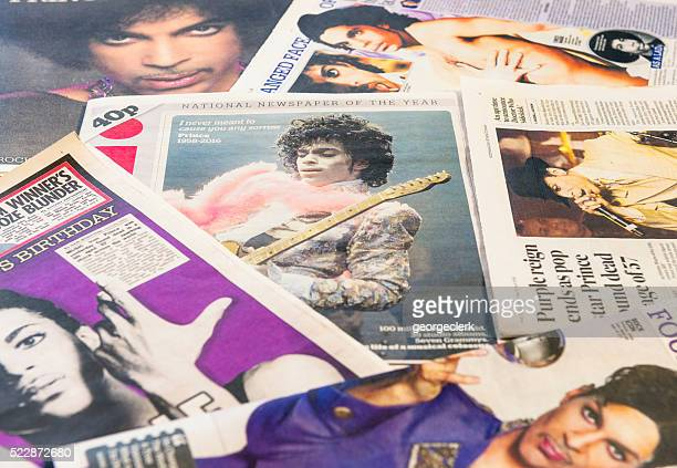 Prince featured in newspapers following his death