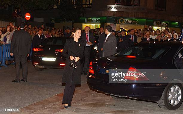 HRH Prince Felipe and HRH Princess Letizia attend the Pre Awards Prince of Asturias Gala Concert at the Prince Felipe Auditorium in Oviedo