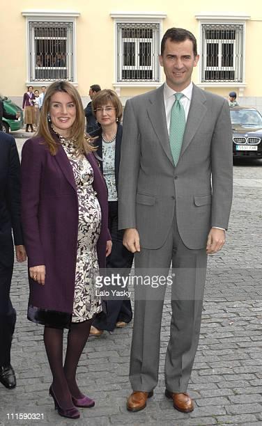 TRH Prince Felipe and Princess Letizia during TRH Prince Felipe and Princess Letizia Preside Over 'Biodiversity Conservation' Awards at BBVA...