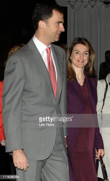 TRH Prince Felipe and Princess Letizia during TRH Prince Felipe and Princess Letizia Preside 20072015 'Latin American Alphabetization Plan for Youth...